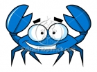 Cartoon Blue Crab Clip Art