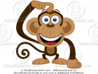 Picture of a Monkey Scratching His Head Clip Art