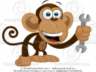 Monkey with a Wrench Cartoon Picture