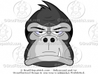 Cartoon Gorilla Face Clip Art