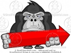 Gorilla Holding a Directional Arrow