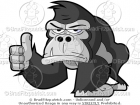 Thumbs Up Gorilla Cartoon Picture