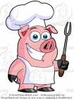 Cartoon Chef Pig Clipart