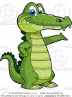 Cartoon Alligator Clipart
