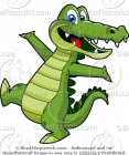 Cartoon Dancing Alligator Clipart