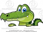 Cartoon Alligator Face Clipart
