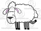 5 Legged Sheep Clip Art