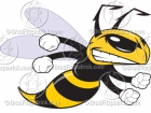 Cartoon Hornet Clipart Mascot Graphics