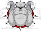 Bulldog Face Cartoon Mascot Logo