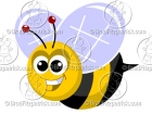 Cute Cartoon Bumble Bee Clipart Character Mascot
