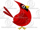 Cartoon Cardinal Clipart