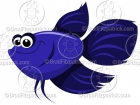 Cartoon Fighting Beta Fish Clipart