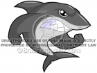 Cartoon Shark Mascot Clipart Graphics
