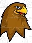 Cartoon Hawk Mascot Clipart Graphics