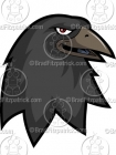 Cartoon Crow Mascot Clipart Graphics