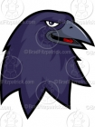 Cartoon Raven Mascot Clipart Graphics