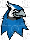 Cartoon Blue Jay Mascot Clipart Graphics