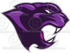 Purple Panther Mascot Clipart Graphics