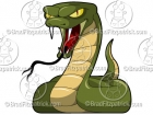 Cartoon Viper Mascot Clipart Graphics (snake)