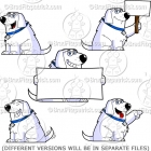 White Cartoon Dog Sitting Clipart