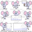 Cute Cartoon Mouse Clip Art Pack