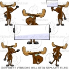 Cute Cartoon Moose Clipart