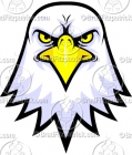 Bald Eagle Face Logo Clipart