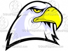 Bald Eagle Head Mascot Clipart