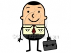 A Businessman Holding Briefcase Clip Art Picture