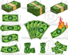 Cartoon Dollar Bill Clipart Graphics