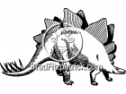 Black and White Stegosaurus Clipart