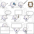 Cartoon Baseball Character Clipart Mascot Graphics