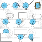 Cartoon Globe Character Clipart Mascot Graphics