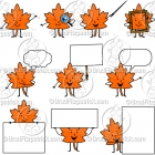 Cartoon Leaf Character Clipart Mascot Graphics
