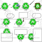 Cartoon Recycle Character Clipart Mascot Graphics