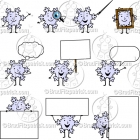 Cartoon Snowflake Character Clipart Mascot Graphics