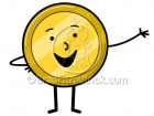 Cartoon Coin Clip Art