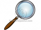 Cartoon Magnifying Glass Clipart Icon