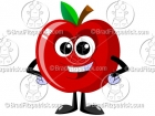 Cute Cartoon Apple Character Mascot