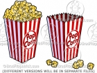 Cartoon Popcorn Clipart Graphics