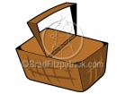 Cartoon Picnic Basket Clipart Graphics