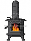 Cartoon Wood Stove Clipart Graphics