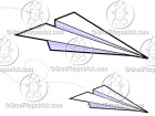 Cartoon Paper Airplane Clipart Graphics