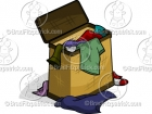 Cartoon Clothes Hamper Clipart