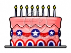 Cartoon Patriotic Cake Clipart