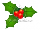 Cartoon Christmas Holly Clipart Graphics