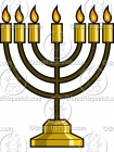 Cartoon Menorah Clipart Graphics