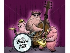 Cartoon Pig Jazz Band Clipart