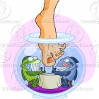 Garra Fish Pedicure Clipart Illustration Picture