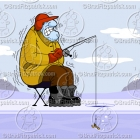 Cartoon Ice Fishing Clipart